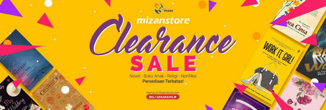 Clearance Sale Mizanstore: Buku Murah Mulai 5 Ribu Rupiah!