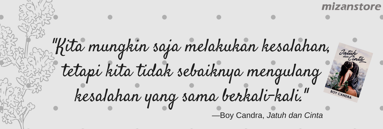 Jatuh dan Cinta, Buku Ke-12 Boy Candra - Mizanstore Blog