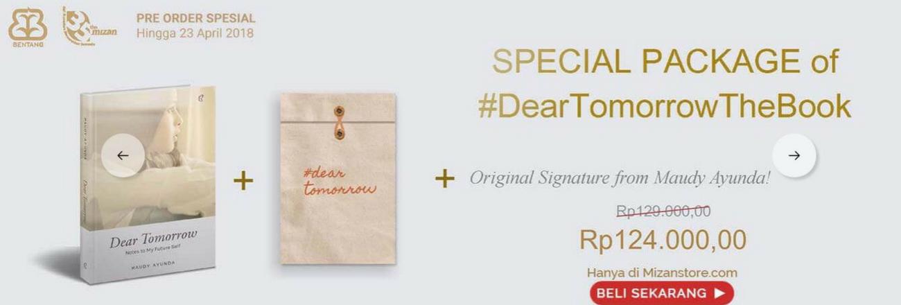 """Pre Order """"Dear Tomorrow"""" Buku Perdana Maudy Ayunda Dibuka Hari Ini"""