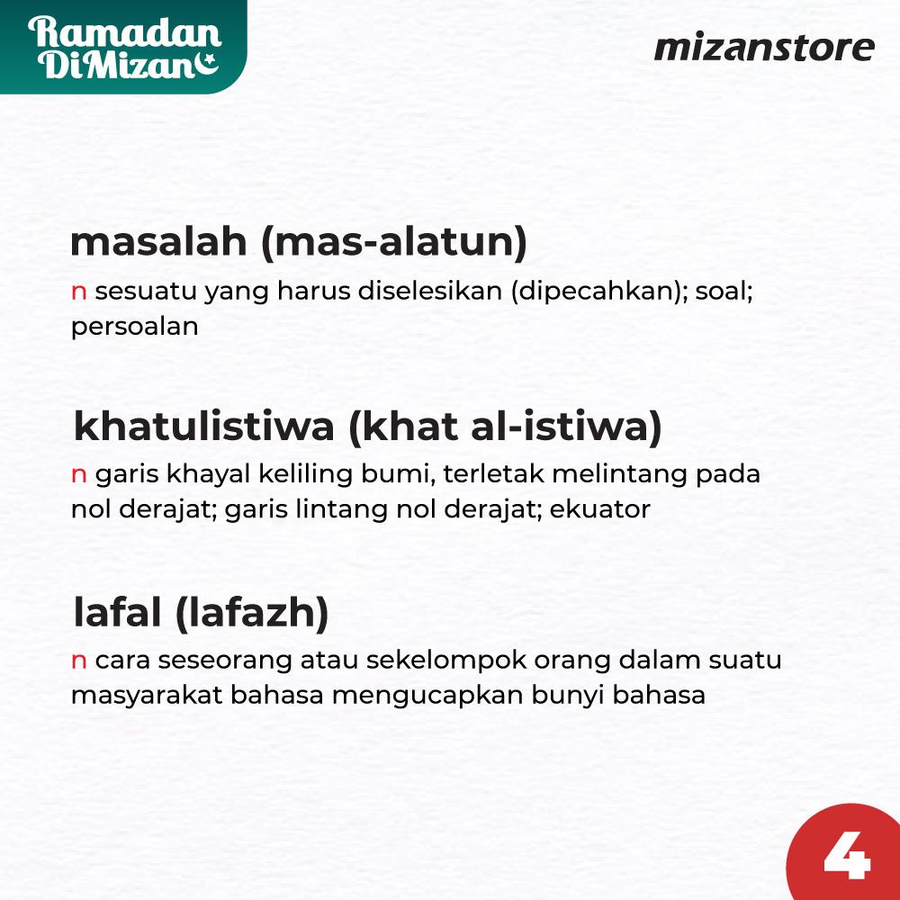 Kata yang Terpengaruh Bahasa Arab
