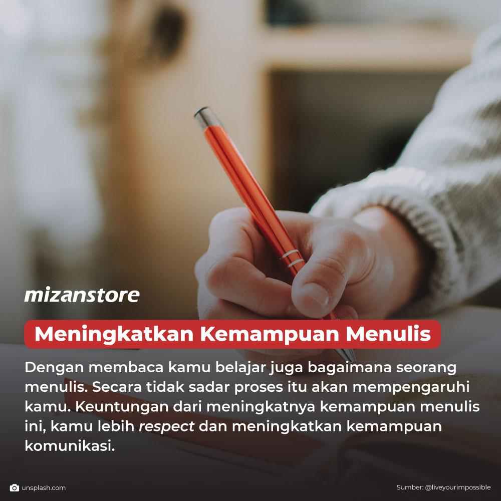 Membaca bisa meningkatkan kemampuan menulis
