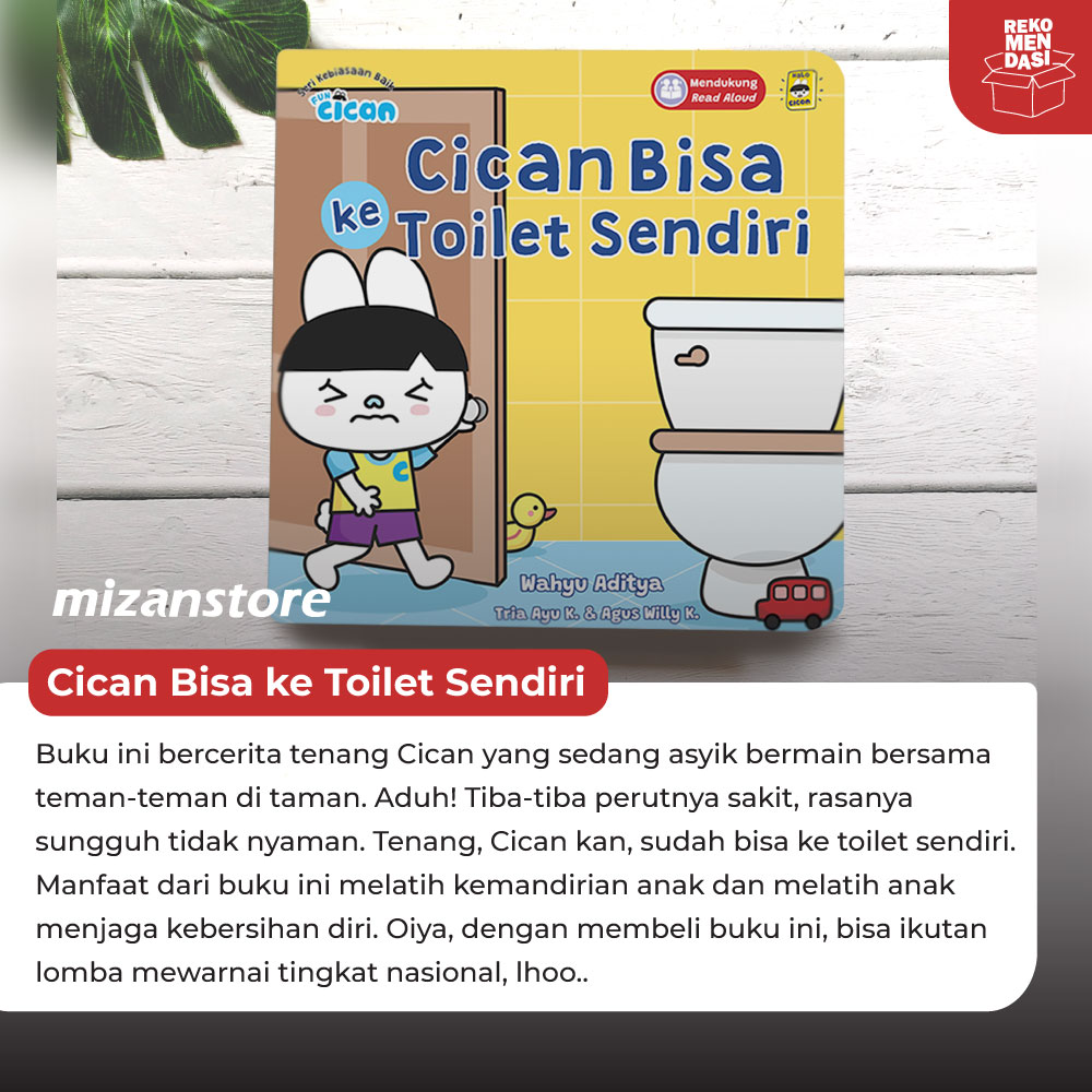 Boardbook Cican Bisa ke Toilet Sendiri