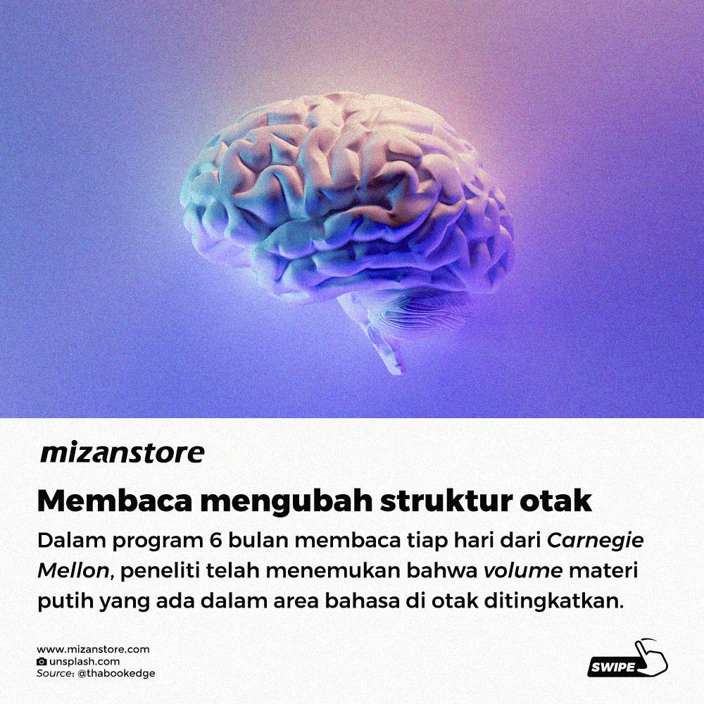 Membaca mengubah struktur otak